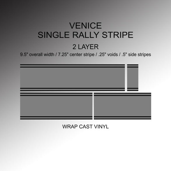 Vanderhall Venice Single Rally Stripes - 2 Layer