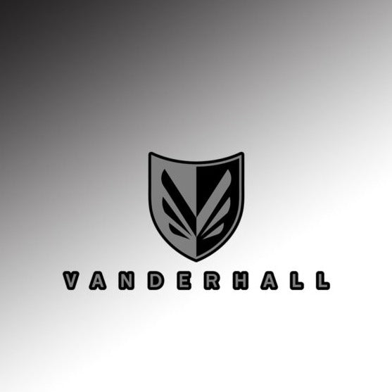 Vanderhall Fender Badge Logo (badge with text)
