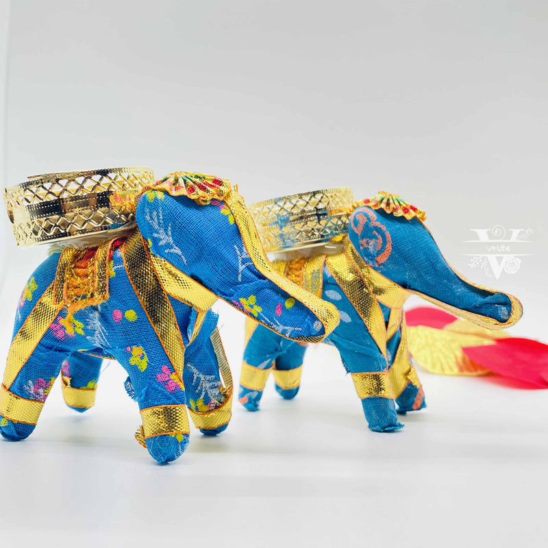 Set of 2 Elephant Tea Light Candle Holder I Perfect Diwali Décor I Home Decoration I Vruts