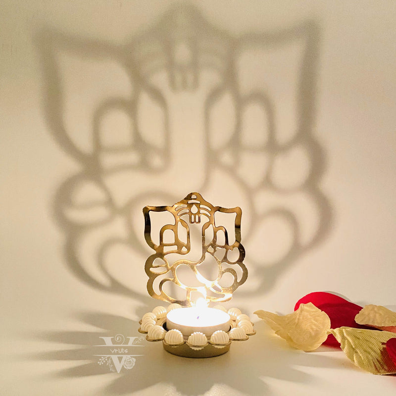 Lord Ganesha Diwali Shadow Candle Holder Stand I Home Decor I