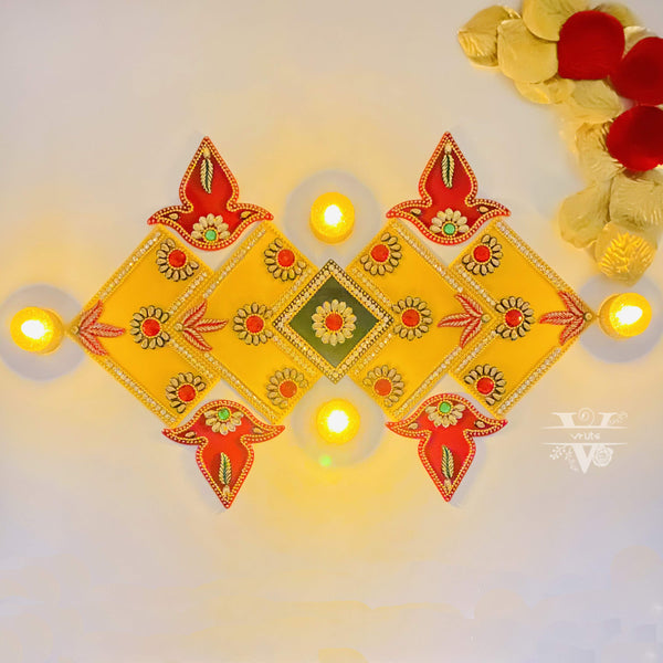 Handmade 7 in 1 Rangoli Decor ! Vruts
