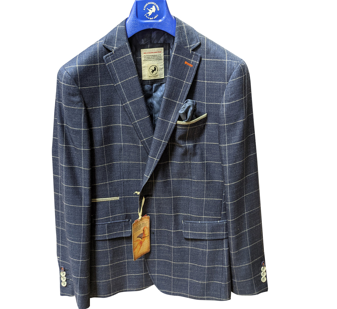 Linen Windowpane Blazer