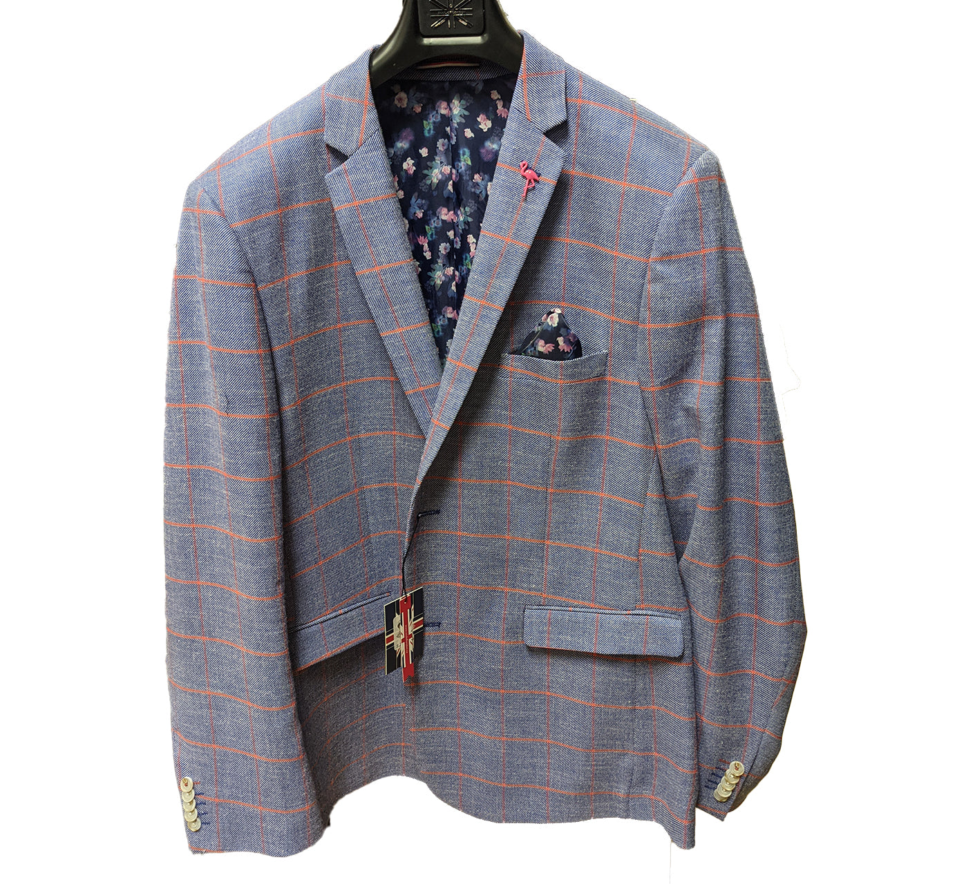 Windowpane Blazer & Pocket Square