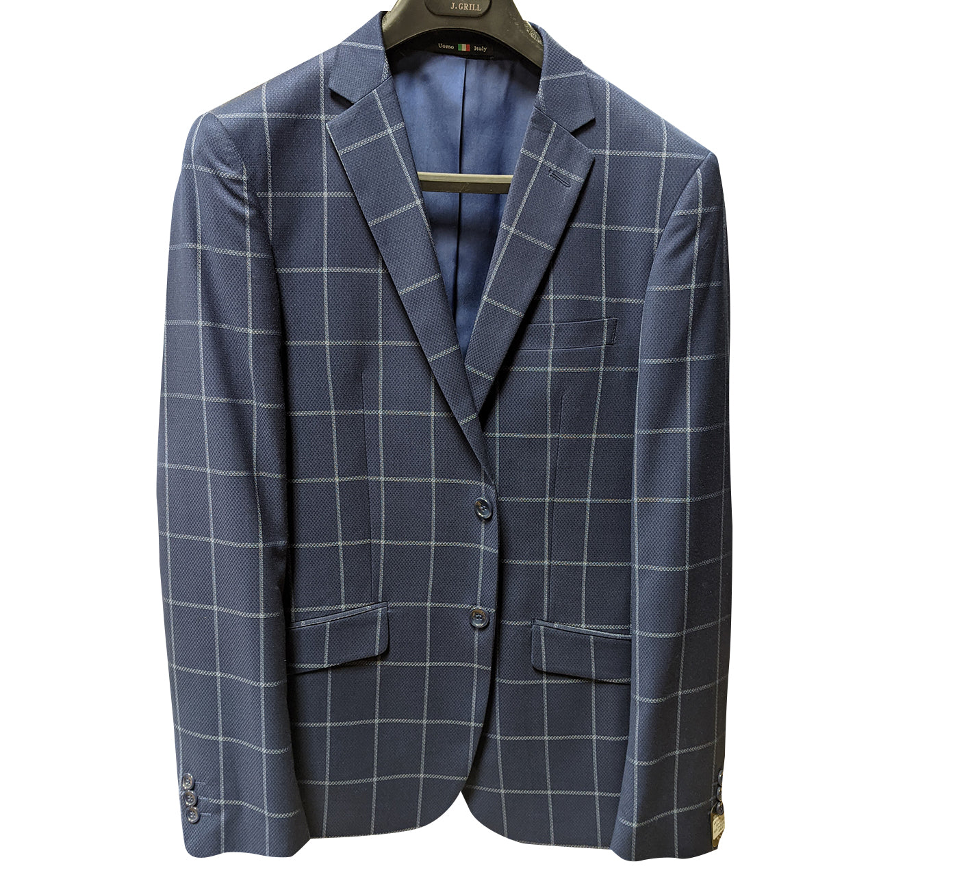 Windowpane print sport jacket