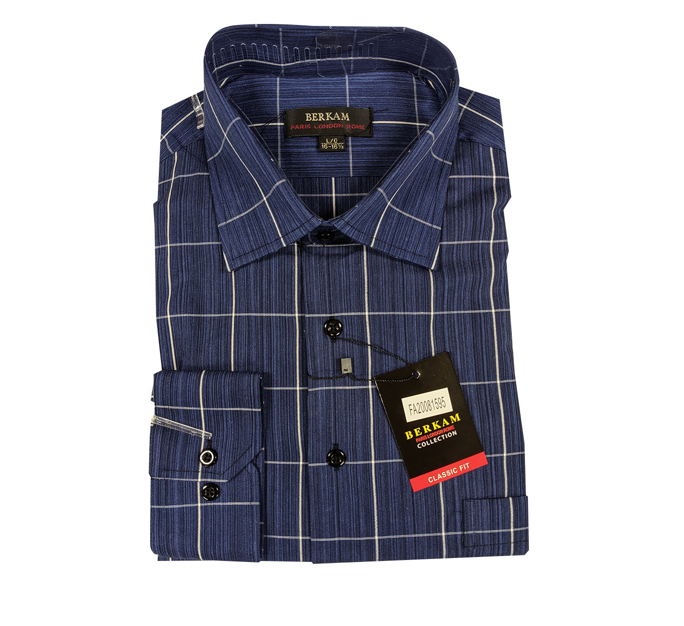 Berkam Sport Shirt - Blue Plaid
