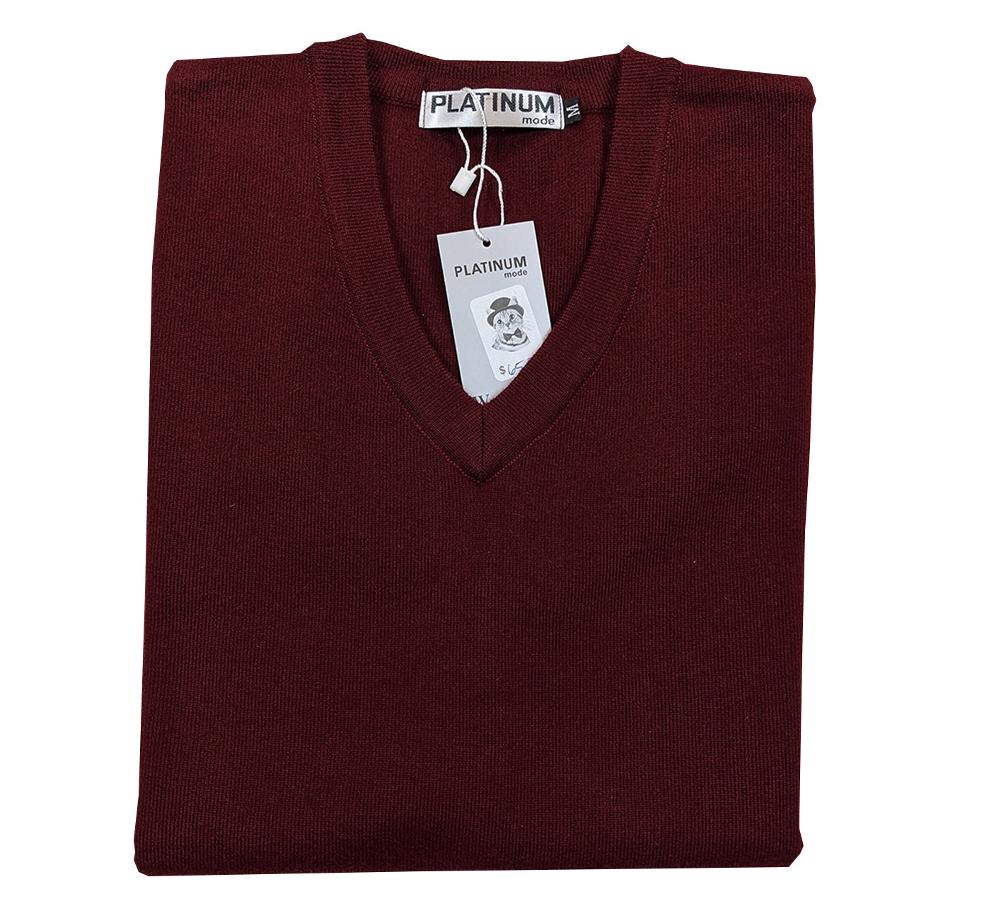 Berkam Sweater Vest - Burgandy