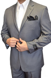 London Fit Mid-Grey, 2-Pc. Suit