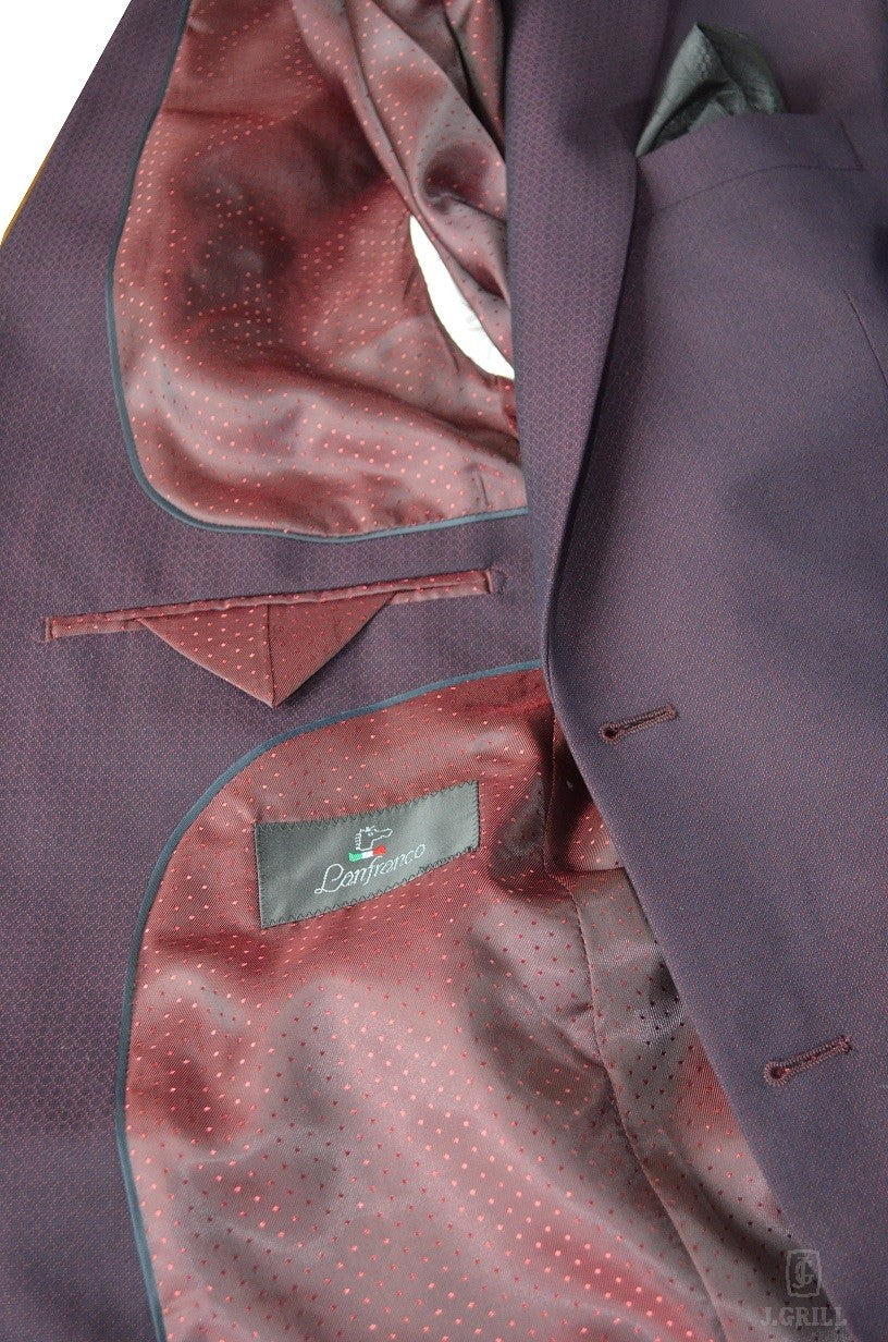 London Fit Burgundy, 2-Pc. Suit