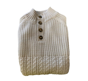 Button-Collar Sweater