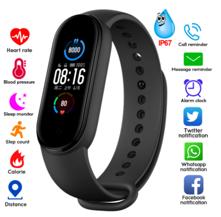 M5 Smartwatch Bracelet IP67 Waterproof