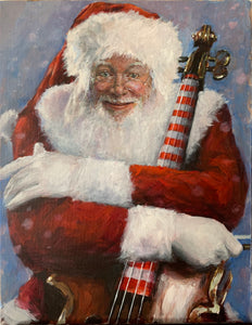 Cello Santa Original Painting