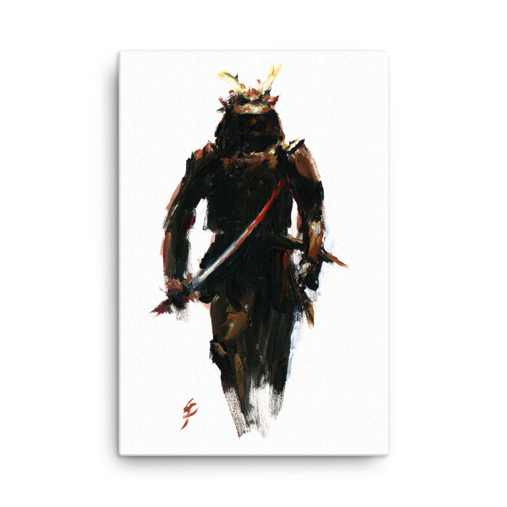 """Samurai""  (Samurai Painting), Canvas"