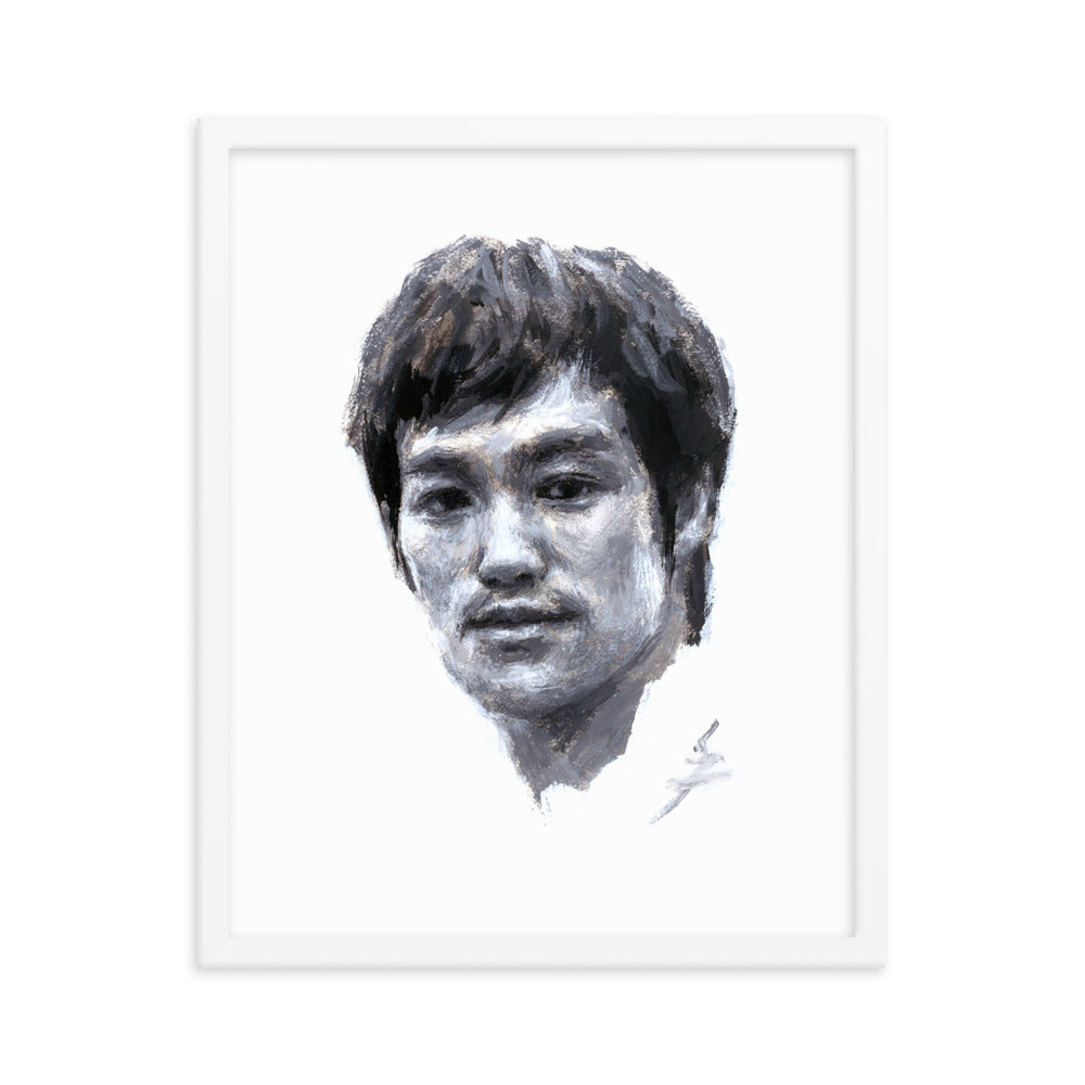"""Snazzybruce"" Bruce Lee Painting .Framed poster"