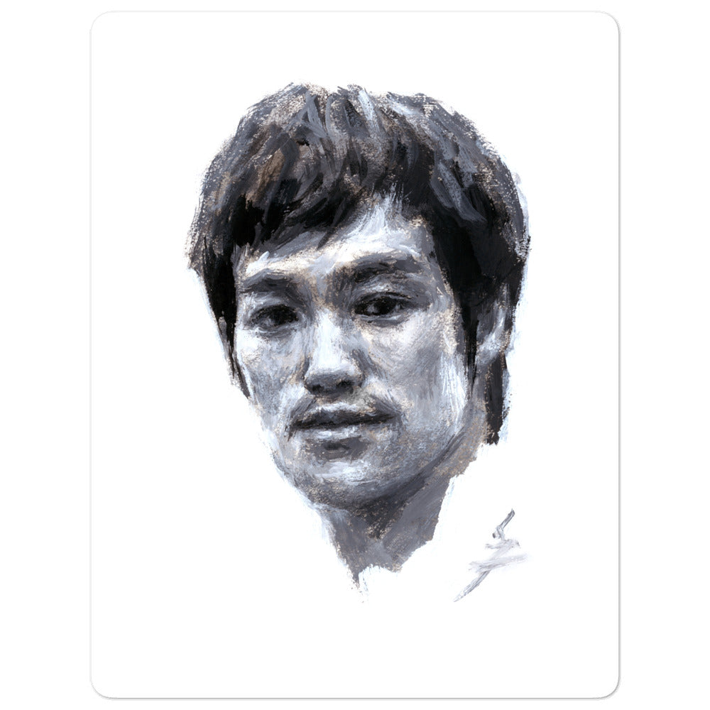 """Snazzybruce"" Bruce Lee Painting . Bubble-free stickers"