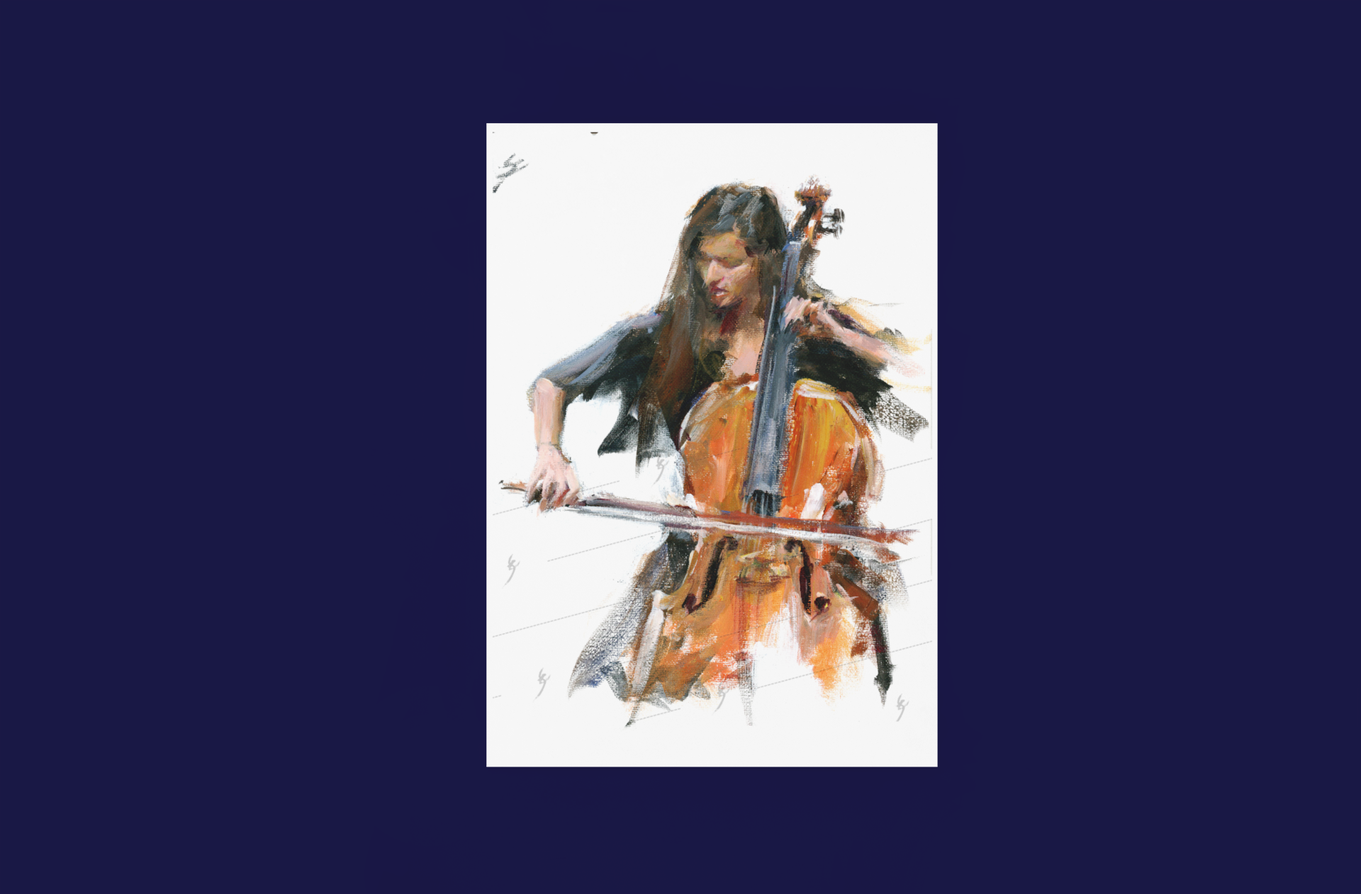 """Virtuosity"" cello art Poster"