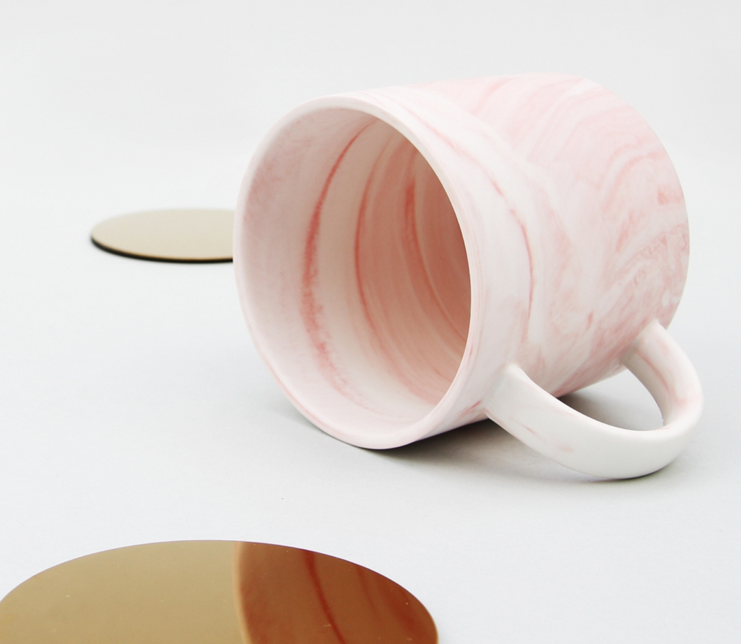 Morning Glory Marble Mug