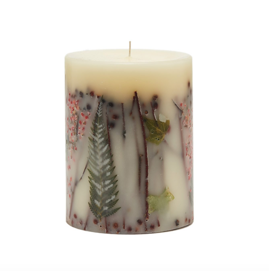 RED CURRANT & CRANBERRY SMALL ROUND BOTANICAL CANDLE