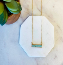 Load image into Gallery viewer, Olivia Stone Bar Necklace