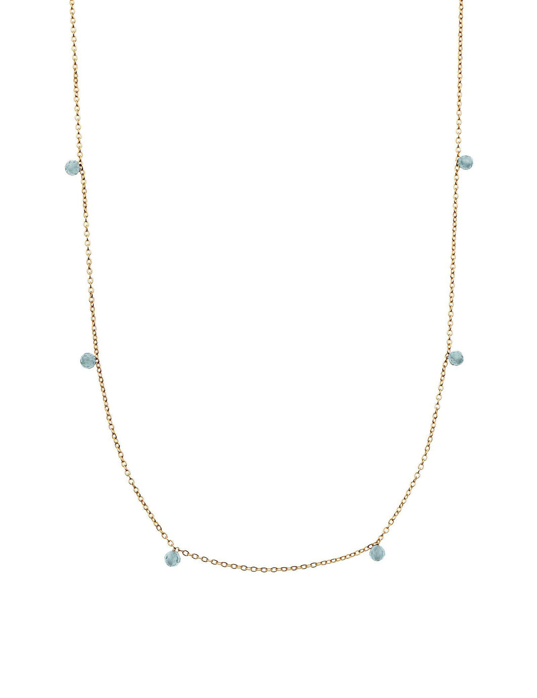 Dear Addison Bloom Mint/Yellow Gold Necklace by Pastiche available at My Harley and Rose