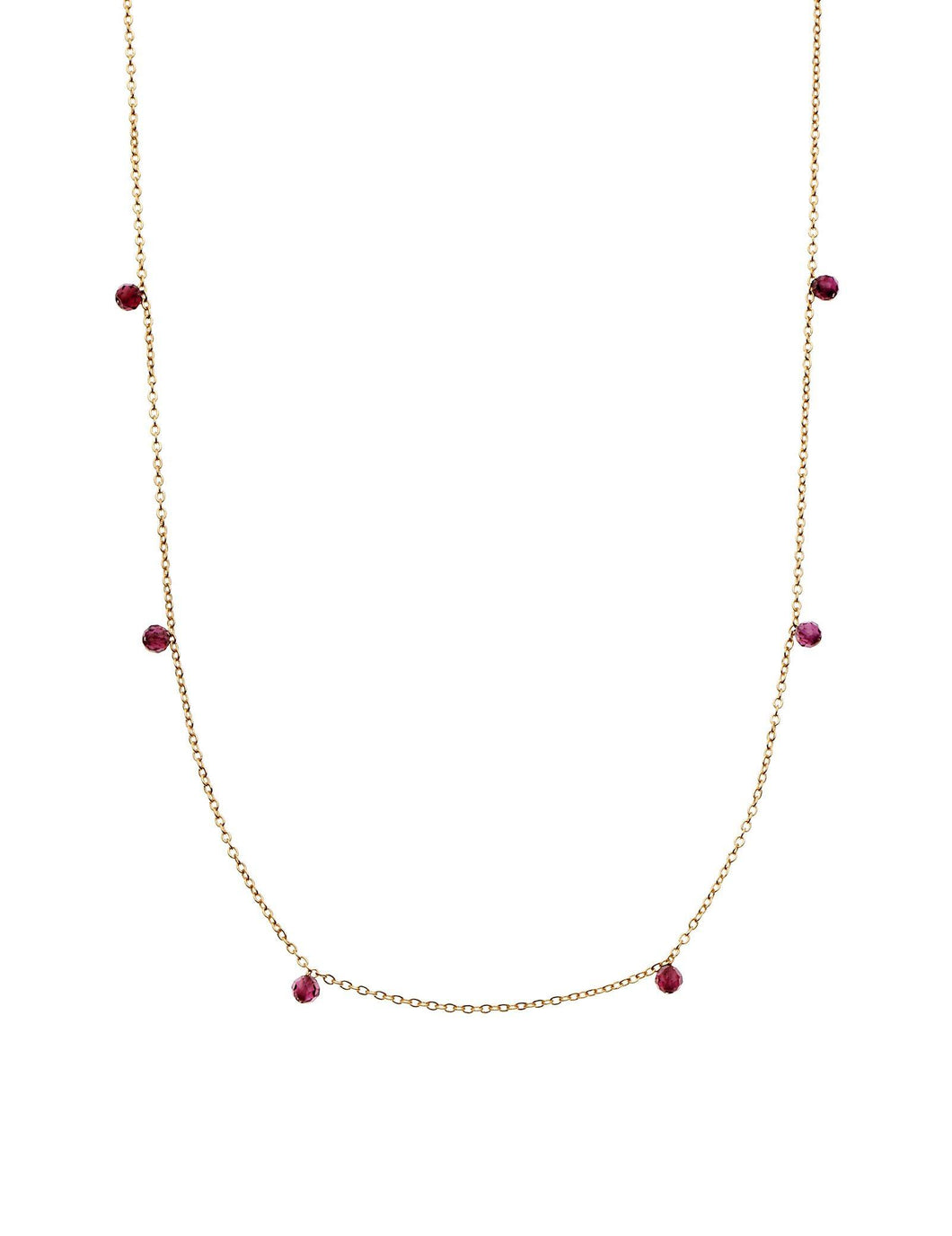 Dear Addison Bloom Plum/Yellow Gold Necklace by Pastiche available at My Harley and Rose