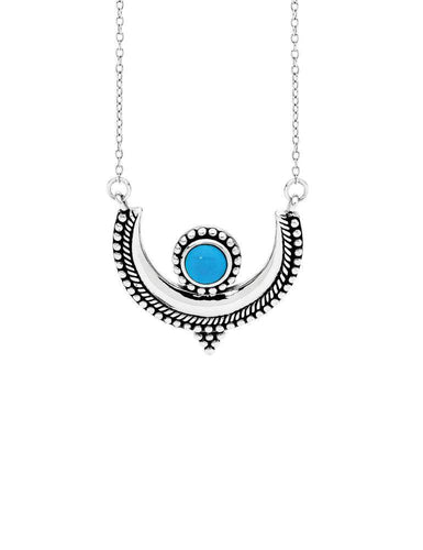 Totora Turquoise/Silver Necklace by Pastiche available at My Harley and Rose