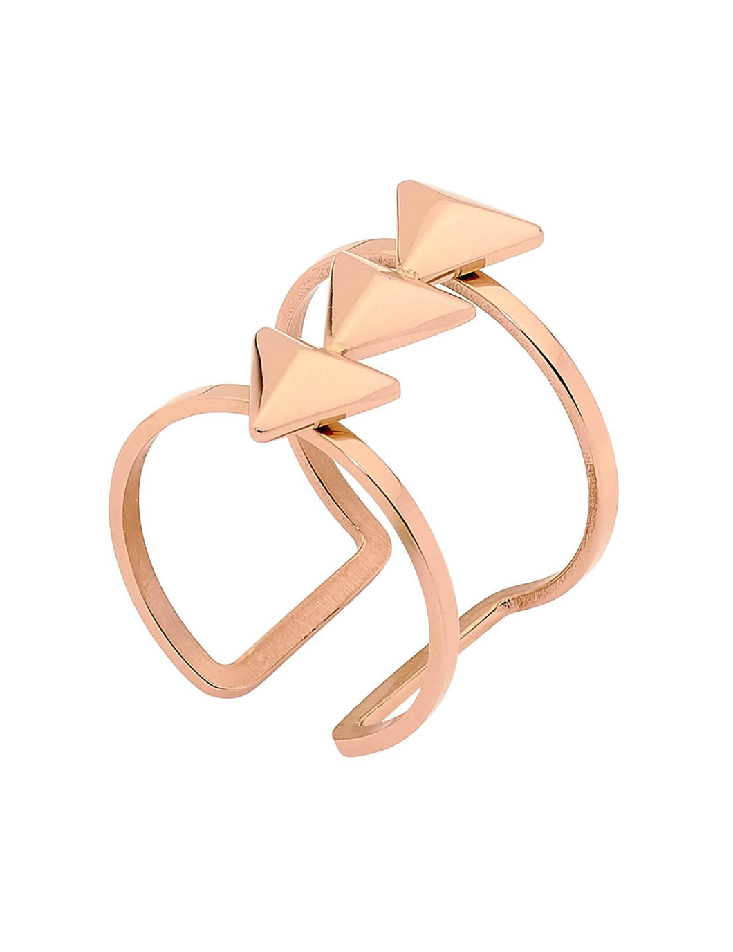 Shooting Stars Cuff Ring Rose Gold by Pastiche available at My Harley and Rose