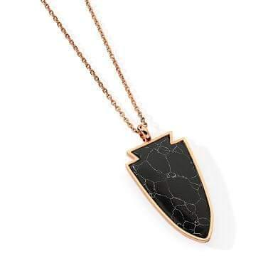 Twilight Necklace Black/Rose Gold by Pastiche available at My Harley and Rose