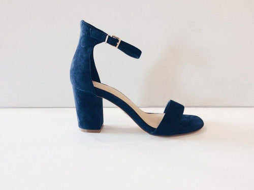 Nude Heel Silence Navy Suede available at My Harley and Rose