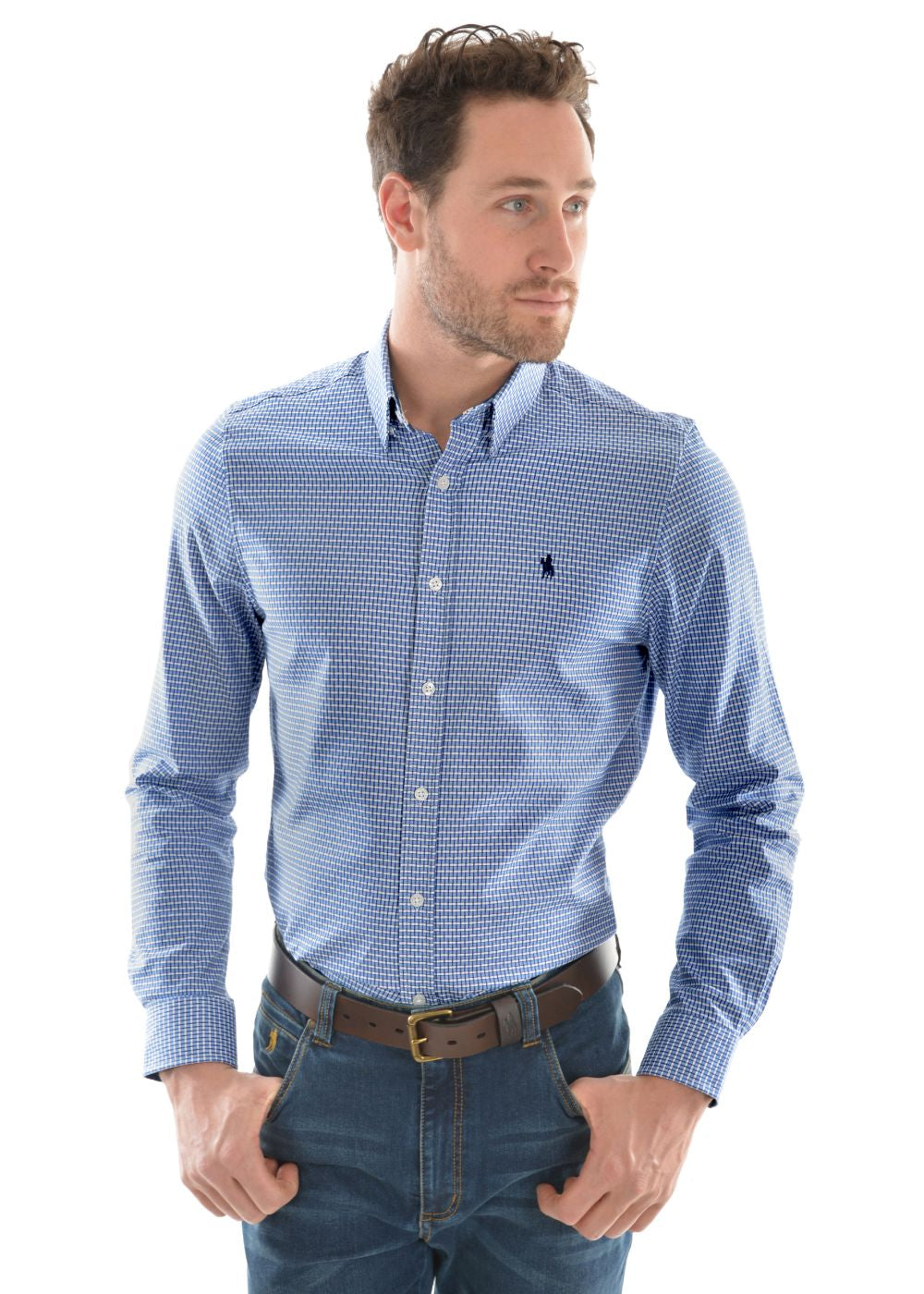 Thomas Cook Tyro Check Tailored Shirt, from Harley & Rose