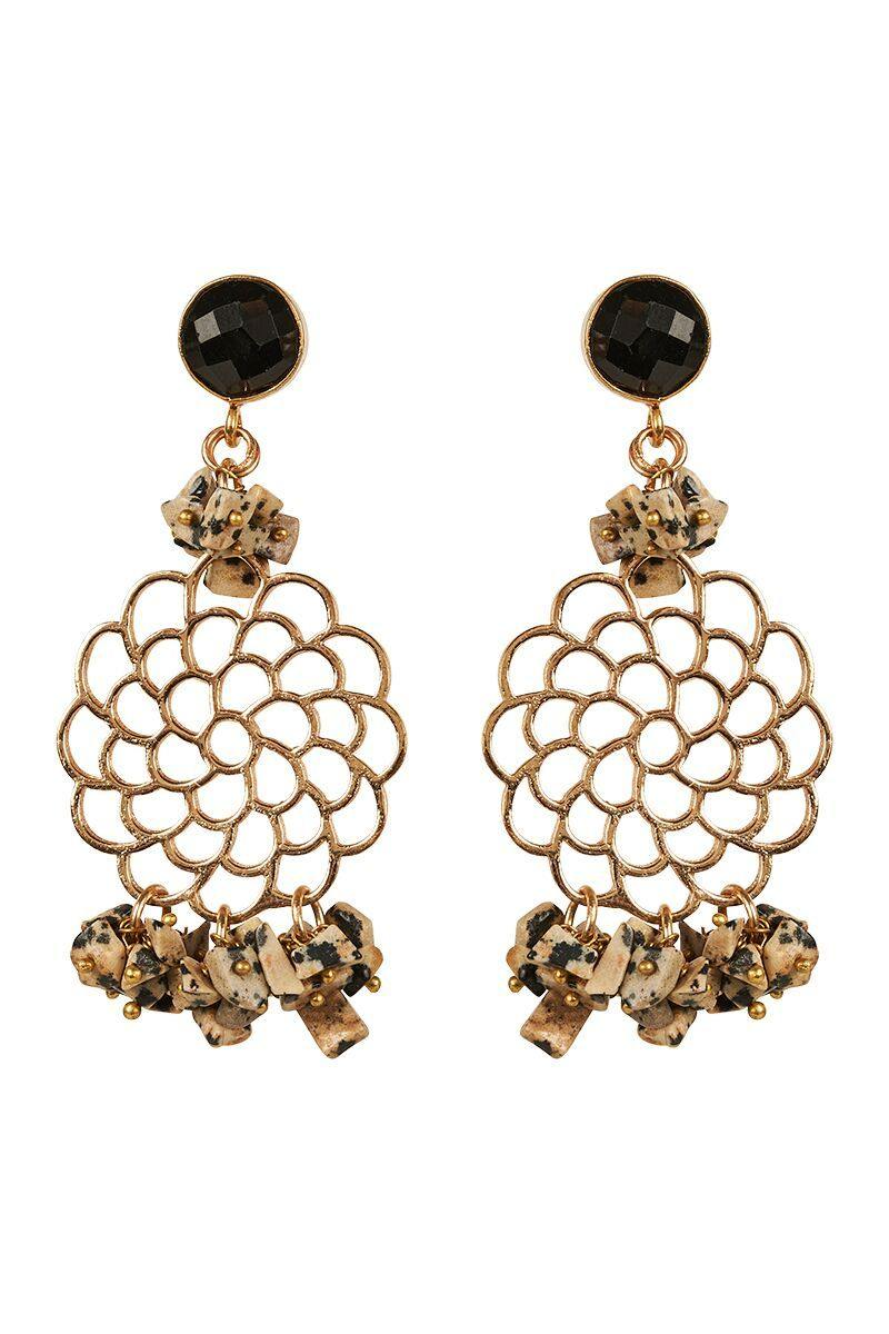 Ava Stone Filagree Earrings by Eb & Ive available at My Harley and Rose