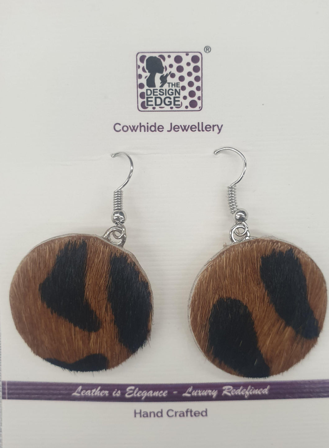 Sudan Leopard Hairon Earrings by The Design Edge available at My Harley and Rose