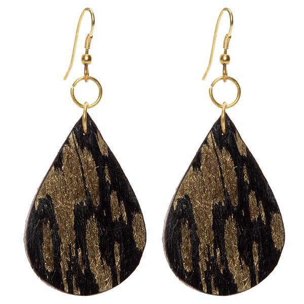 Tanzania Gold & Black Hairon Earrings by The Design Edge available at My Harley and Rose