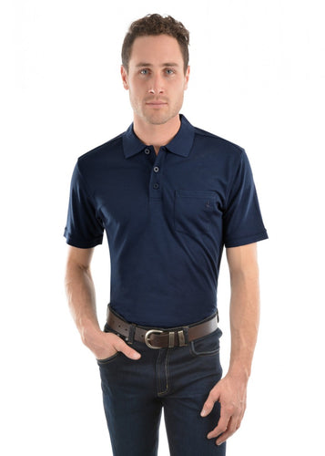 Thomas Cook Bamboo Polo Navy, from Harley & Rose