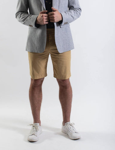 James Harper Chino Shorts in camel, From Harley and Rose