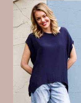 Jane Scoop Top Navy, from Harley & Rose