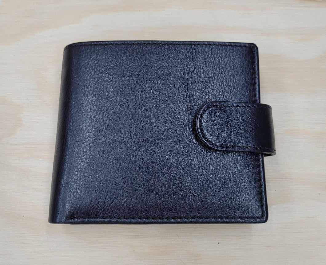 Mens Cow Leather Wallet by The Design Edge is available at My Harley and Rose
