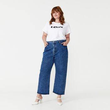 Perfect Logo T-shirt (Plus Size) Levi's® Perfect Tees are made to last and are anything but basic. They're designed for comfort, casual style and versatility. Show off your love for Levi's® with this classic tee. Features a Levi's® logo. Available at My Harley and Rose.