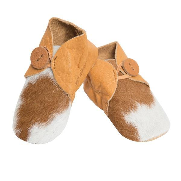 Hairon Baby Booties Cowhide Footwear by The Design Edge available at My Harley and Rose