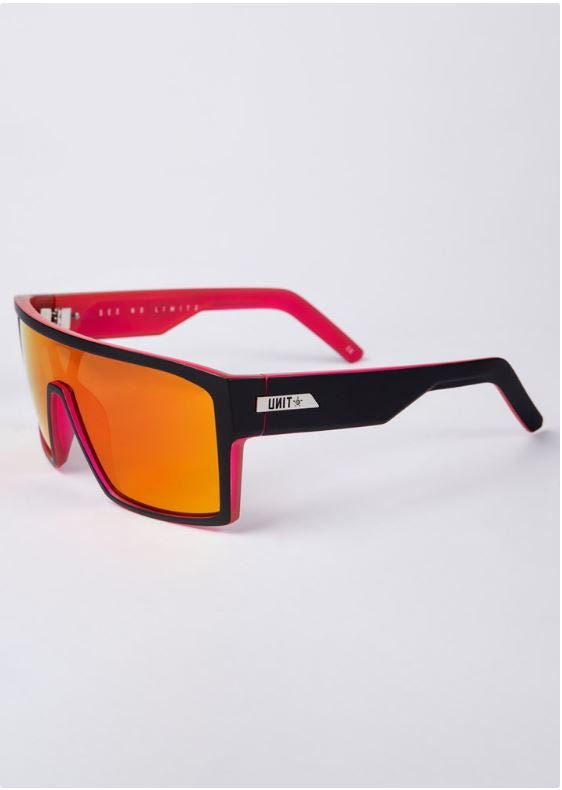 Unit Command Matte Black Neon Pink Polarised Sunglasses by Unit available at My Harley and Rose