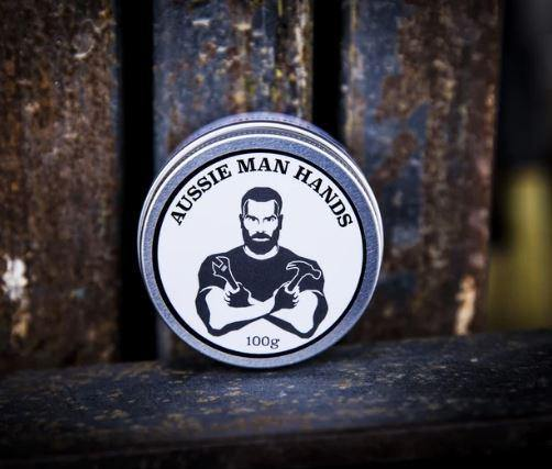 AUSSIE MAN HANDS - Hand Cream For Tradies 100GM available at My Harley and Rose