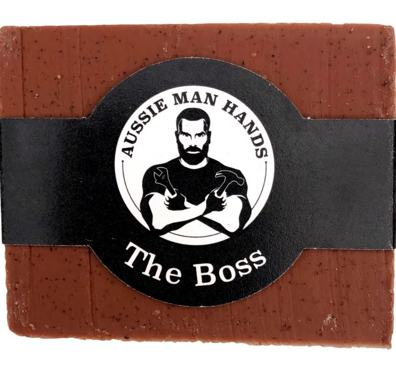 The BOSS | Exfoliating Natural Soap Bar 100gms by Aussie Man Hands available at My Harley and Rose