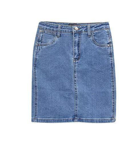 Country Denim Skirt Midi Wash by Country Denim available at My Harley and Rose