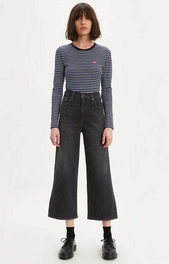Levis Mile High Cropped Wide Leg, from Harley and Rose