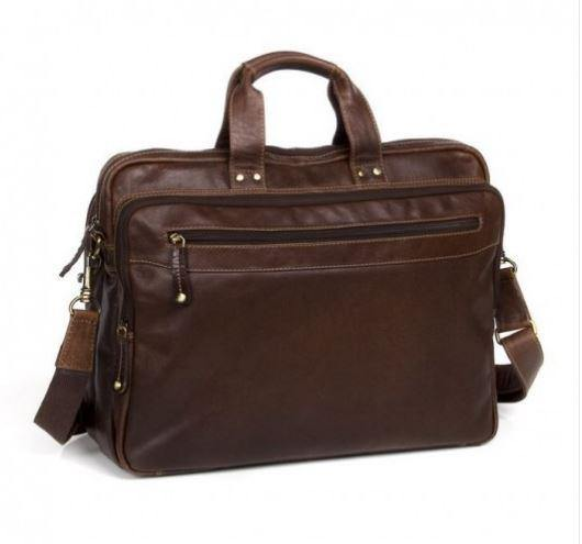 Vince Briefcase Brown by Oran Leather Rugged Hide available at My Harley and Rose