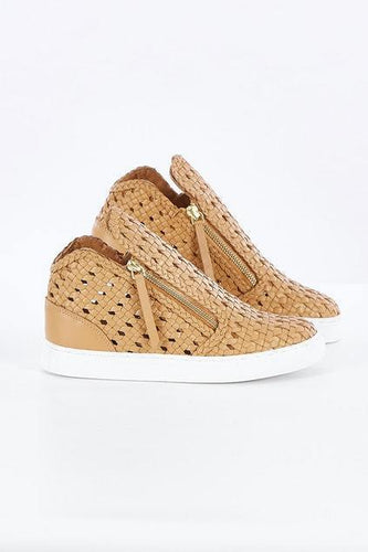 Human Woven Sneaker, Tan Sneaker Harley and Rose