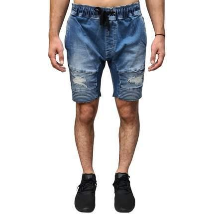 Henleys Blake Moto Denim Short Blue Blast, from Harley & Rose