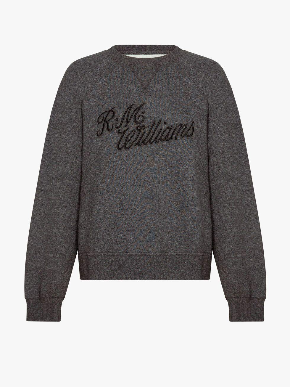 RM Williams Script Crew Neck available at My Harley and Rose