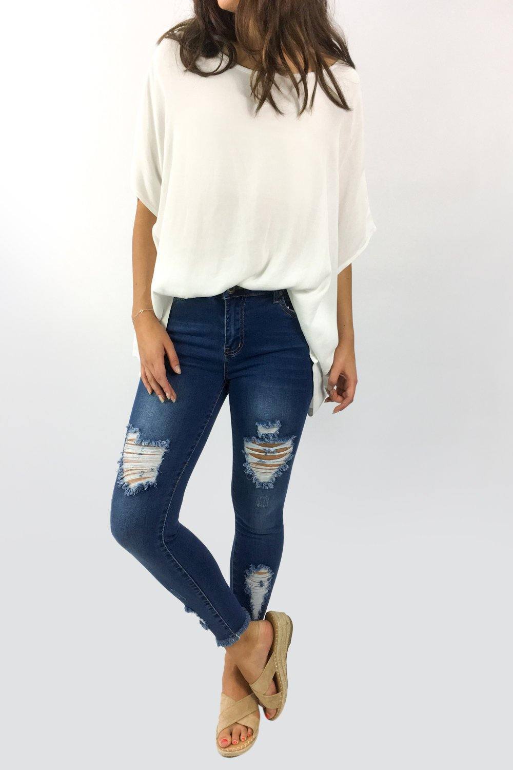 Amber Ripped Jeans by Wakee Denim available at My Harley and Rose
