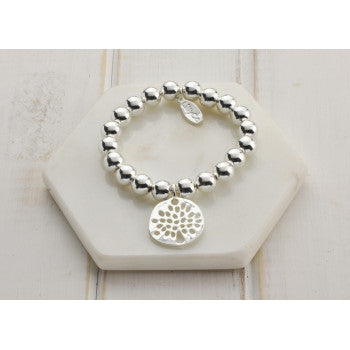 LillyCo Silver Tree Bead Bracelet by LillyCo available at My Harley and Rose