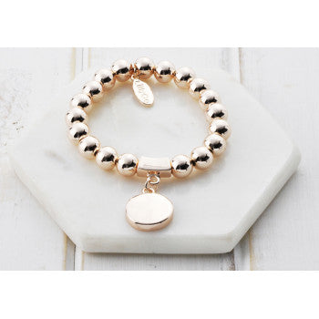 Lillyco Rose Gold Bead Favourite Bracelet by Lillyco available at My Harley and Rose